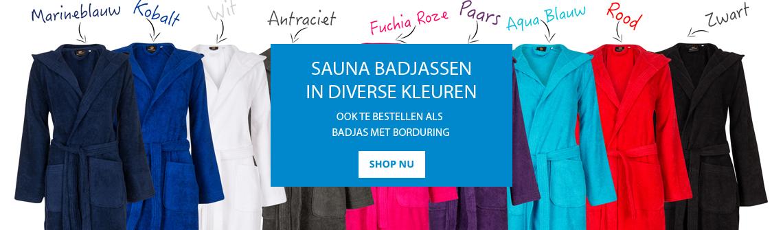 Sauna badjassen online bestellen