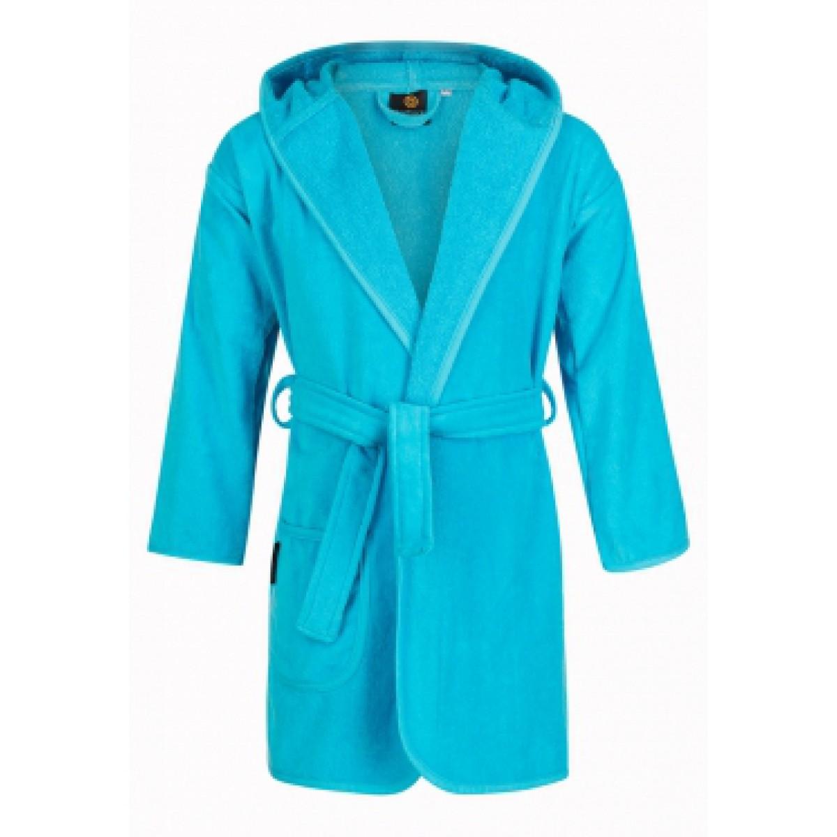 Kinderbadjas aquablauw