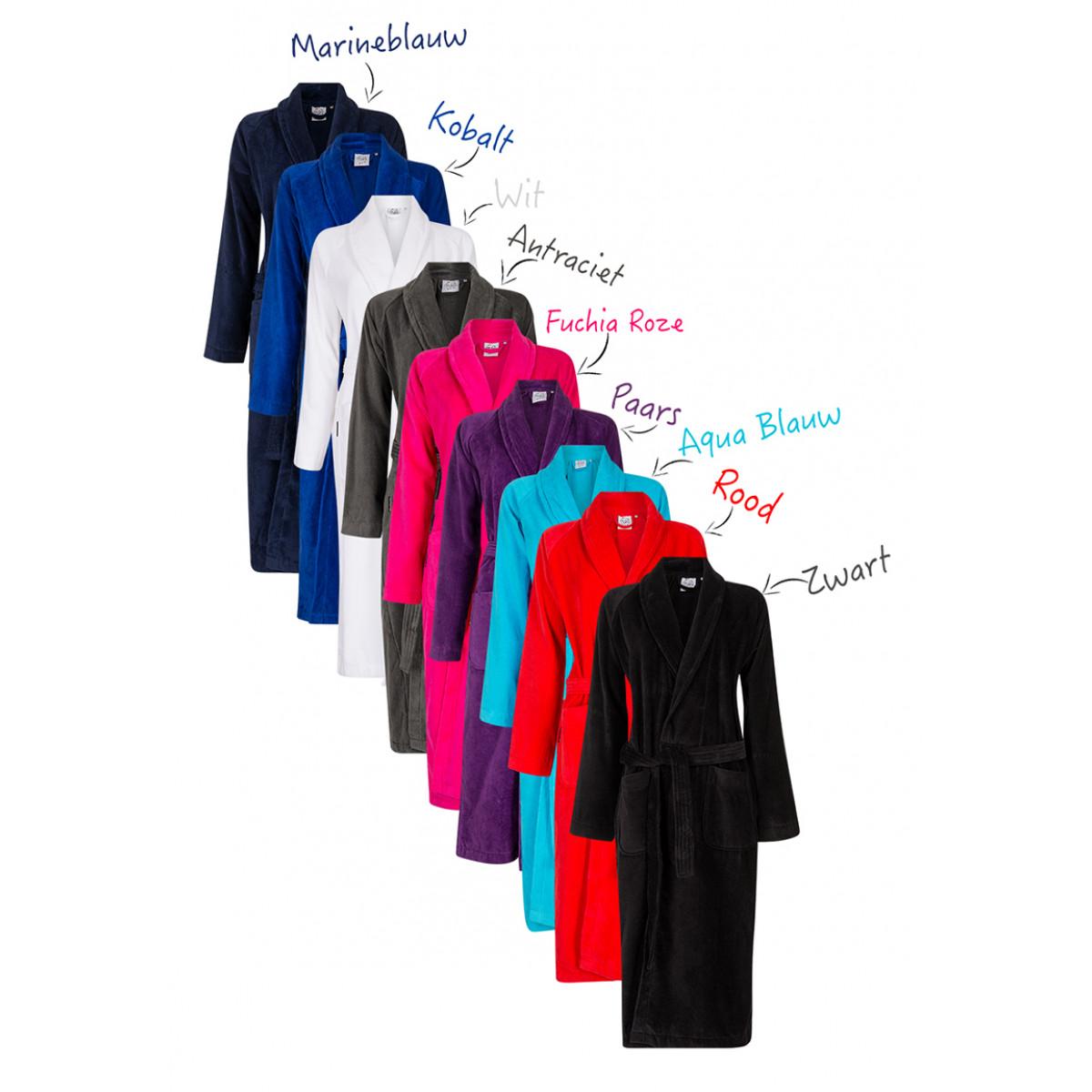 Badjassen voor sauna in 9 kleuren