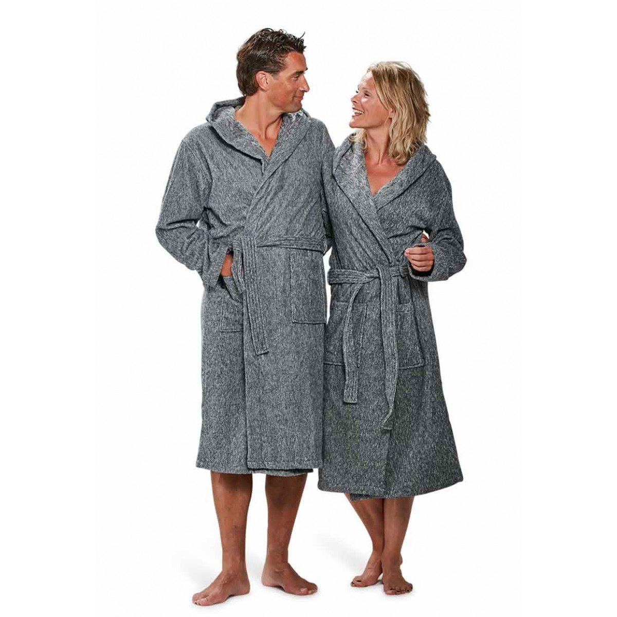 Badjas grijs voor hem & haar