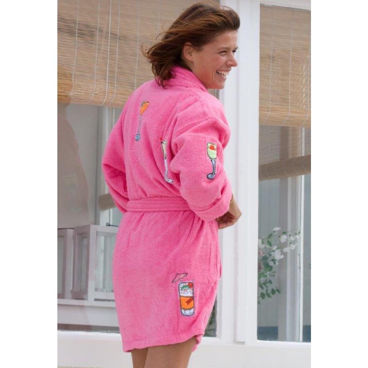 Roze dames badjas