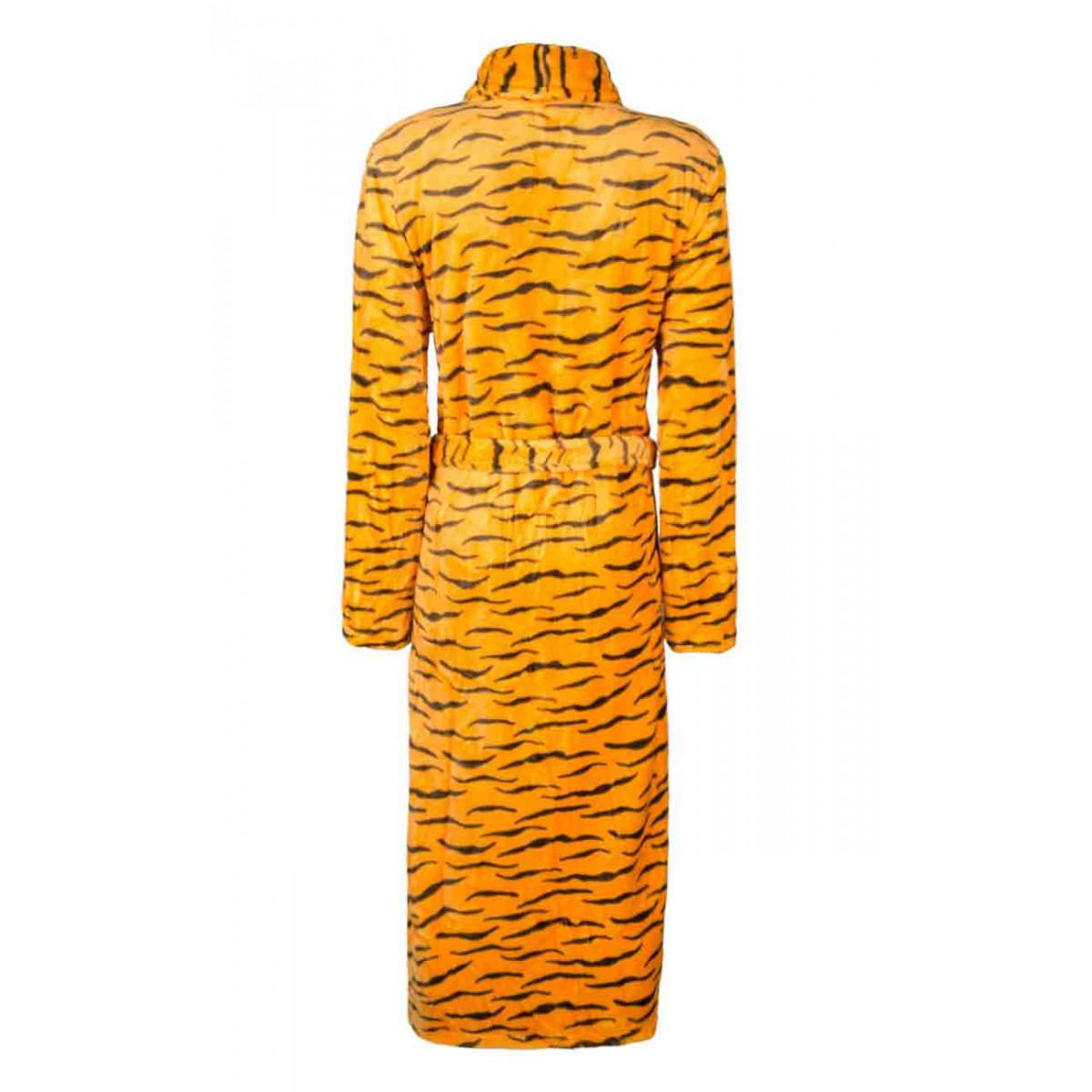 tijgerprint dames badjas