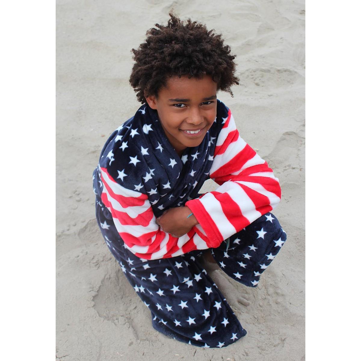 kinderbadjas USA vlag