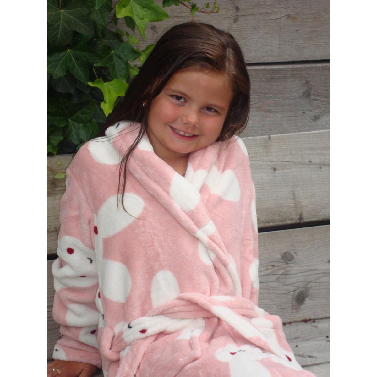 Kinderbadjas met konijntjes