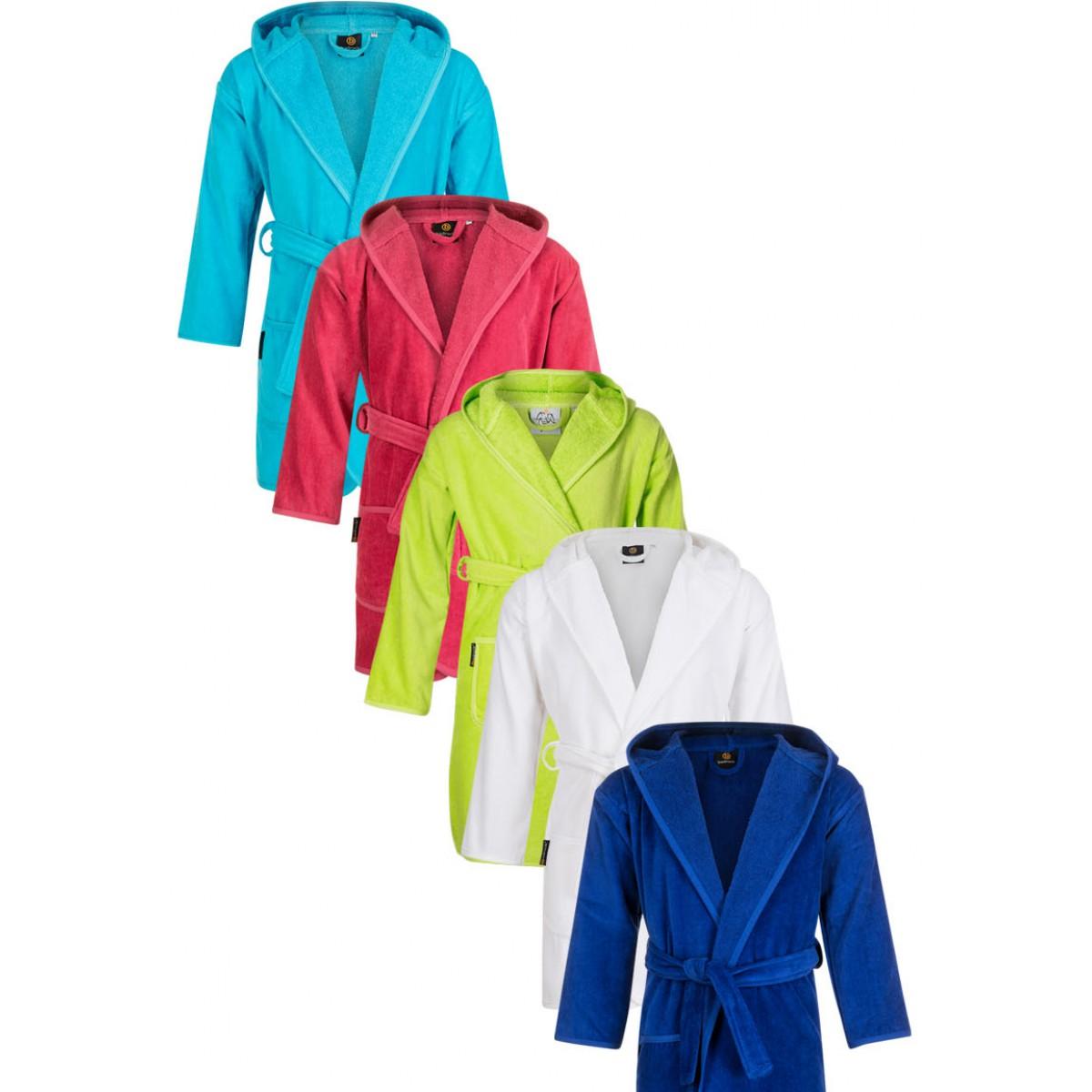 Kinderbadjassen effen kleuren