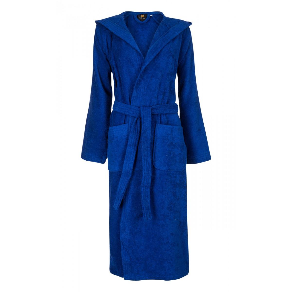 kobaltblauwe badjas