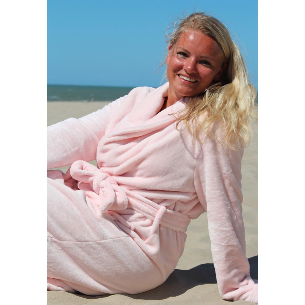 Fleece badjas borduren met naam