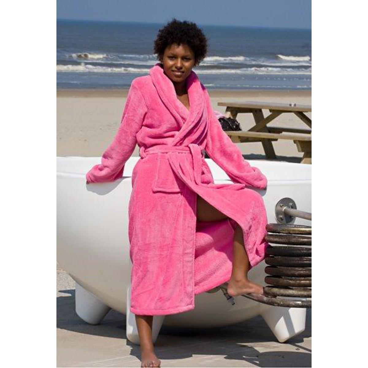 Roze dames badjassen