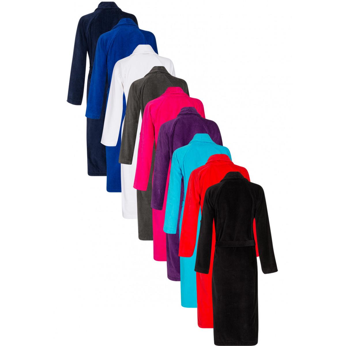 Badjassen velours katoen in 9 frisse kleuren