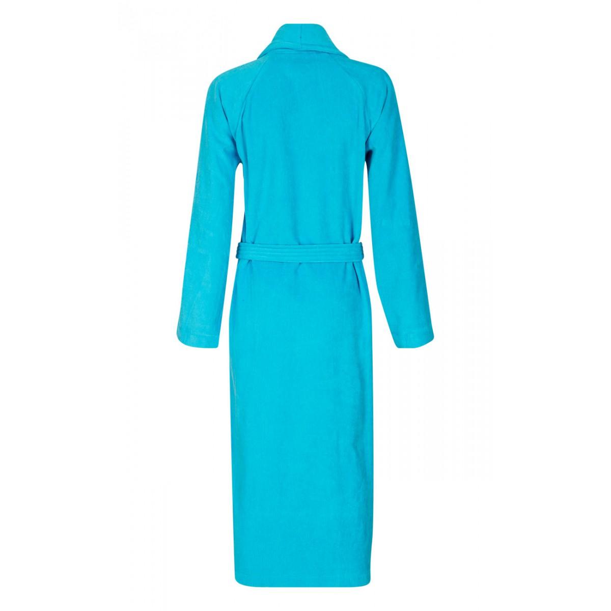 unisex badjas aquablauw