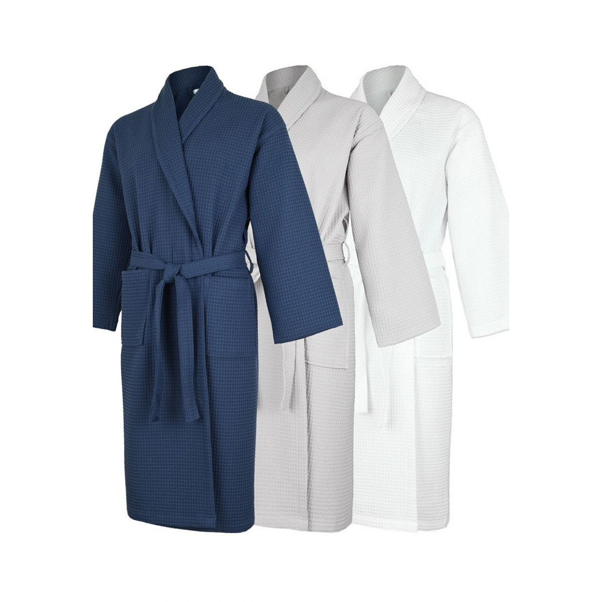 wafelstof badjas voor de sauna