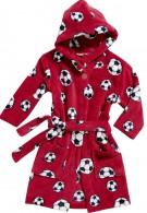 Kinder badjas rood met ballen