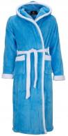 Aqua badjas met capuchon