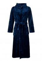 Badjas blauw met capuchon