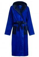 Luxe kamerjas met capuchon - blauw