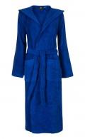 Kobaltblauwe badjas capuchon