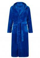 Badjas met capuchon blauw