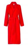 Velours badjas rood