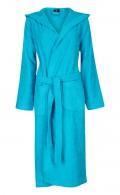 Turquoise badjas capuchon