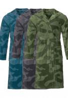 Unisex badjassen met legerprint