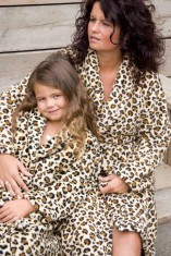 Kinderbadjas met tijgerprint