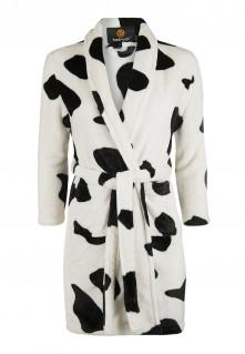 Kinderbadjas met koeienprint