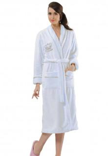 Witte dames badjas Queen