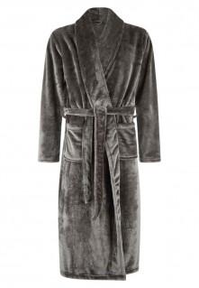 Grijze fleece badjas heren online kopen