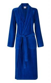 Velours badjas kobaltblauw