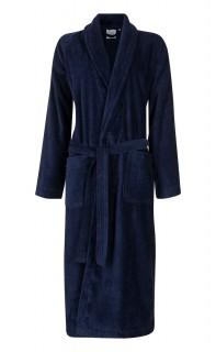 velours badjas blauw
