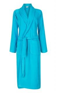 velours badjas aquablauw