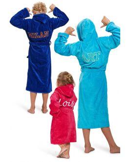Kinderbadjassen met borduring
