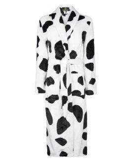 Badjas met koeienprint