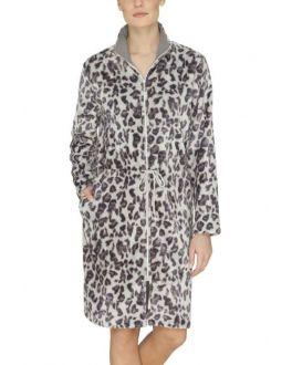 Luipaard motief badjas met rits