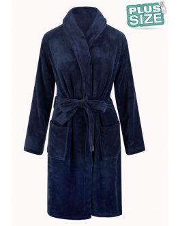 Unisex fleecebadjas extra groot - donkerblauw
