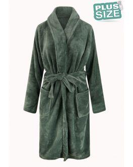 Unisex fleecebadjas extra groot - groen
