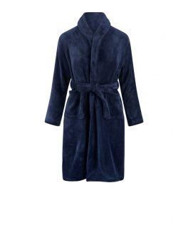 Donker blauwe kinderbadjas fleece