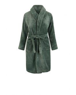 Groene badjas kind fleece