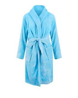 Lichtblauwe badjas fleece voor hem & haar
