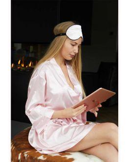 Lichtroze kimono satijn voor haar