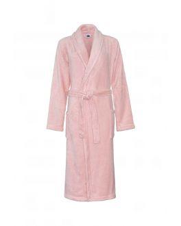 oud roze badjas dames van fleece