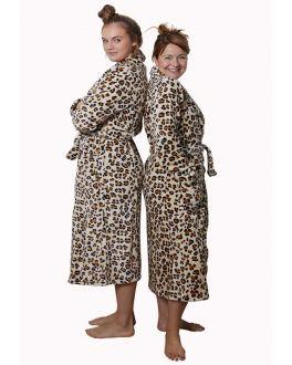 badjas met luipaard print
