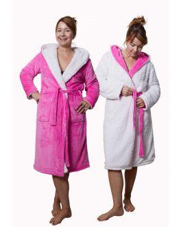 Fleecebadjas teddyvoering- roze