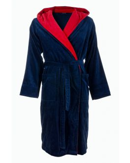 badjas heren rood blauw