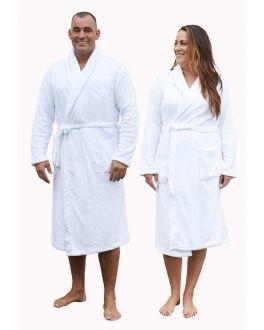 witte badjas van fleece